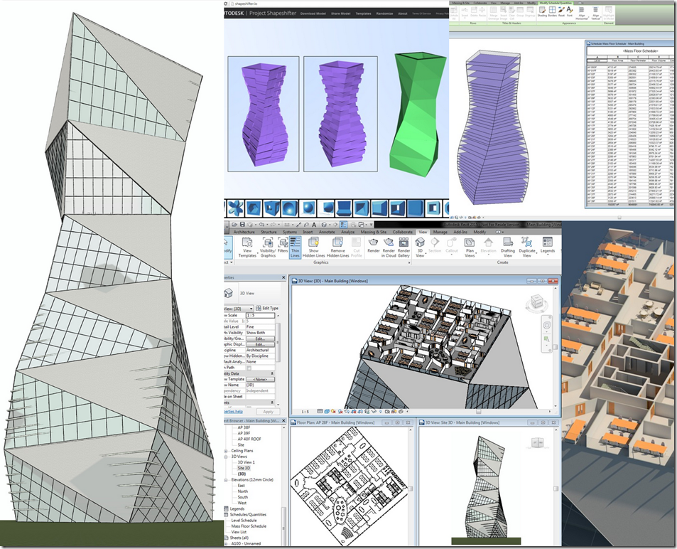 Shapeshifter to Revit: Conceptual Modelling in a Browser