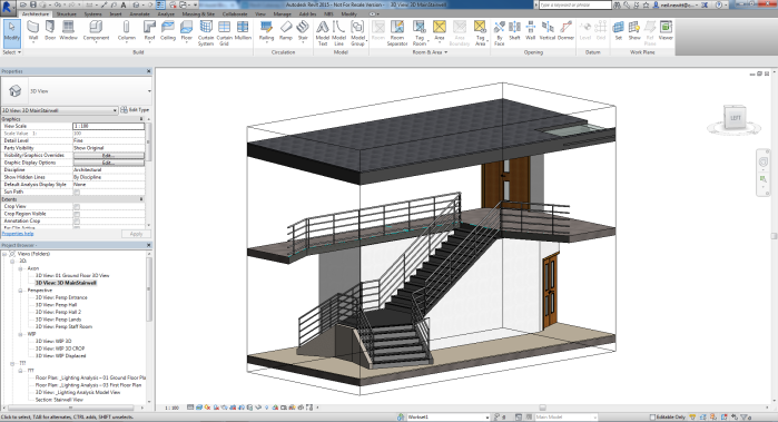 3D view of stairwell