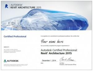 revit certificate