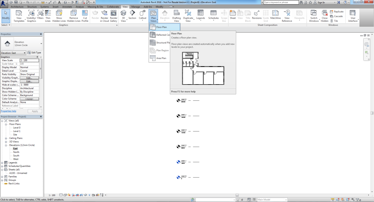 Create Elevation Plan In Revit : Creating multiple levels in revit tips tricks and