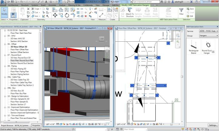 Revit MEP 2017 Fabrication hanger